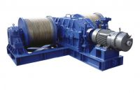 Take up winch for oil sands