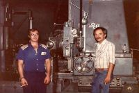 1982 - Gary Porter with first large gear hobber
